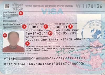India Visa Sample